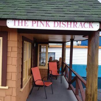 Pink Dishrack Floating Cottage